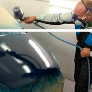Car painting works